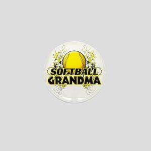 Softball Grandma (cross) Mini Button
