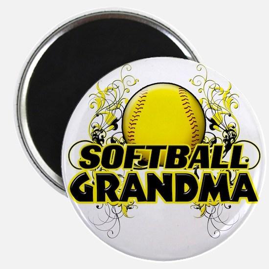 Softball Grandma (cross) Magnet