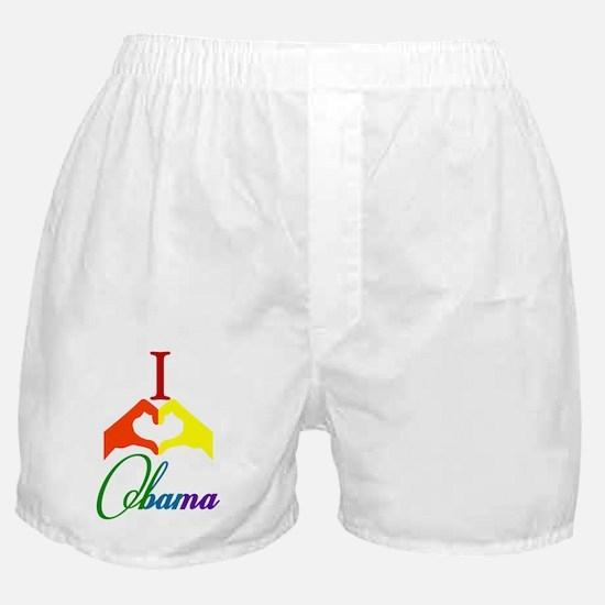 I Love Obama Rainbow Vert Boxer Shorts