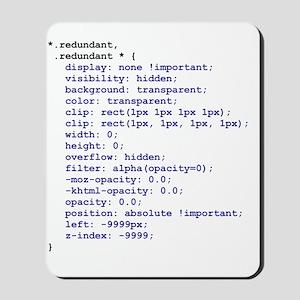 CSS Redundant Class Mousepad