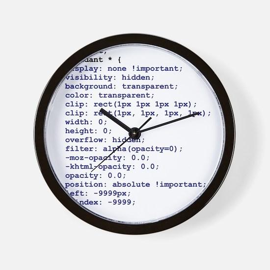 CSS Redundant Class Wall Clock
