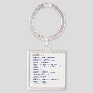 CSS Redundant Class Square Keychain