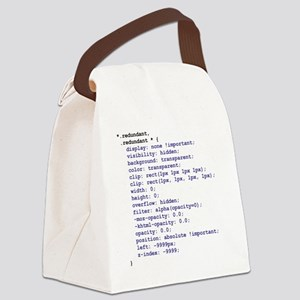 CSS Redundant Class Canvas Lunch Bag