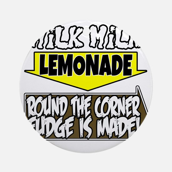 Milk Milk Lemonade Round the Corner Round Ornament
