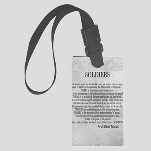 Soldiers Large Luggage Tag