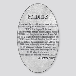 Soldiers Sticker (Oval)