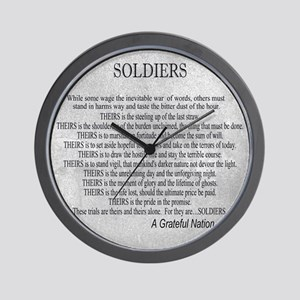 Soldiers Wall Clock