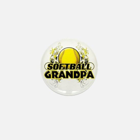 Softball Grandpa (cross) Mini Button