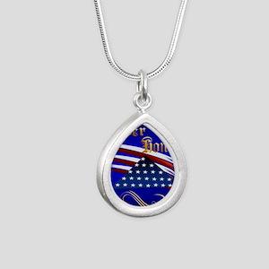Ever Honor Silver Teardrop Necklace