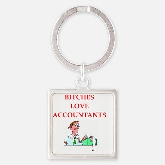 accountantt Square Keychain
