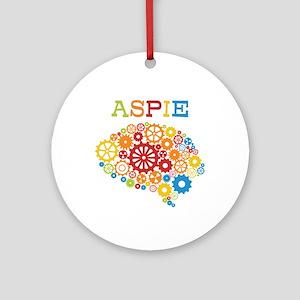 Aspie Brain Autism Round Ornament