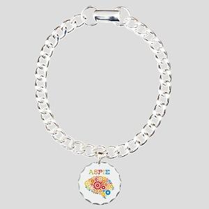 Aspie Brain Autism Charm Bracelet, One Charm