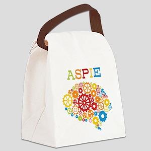 Aspie Brain Autism Canvas Lunch Bag