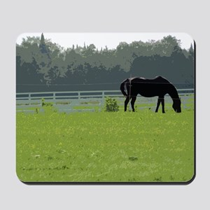 Horse In Field Painting Mousepad