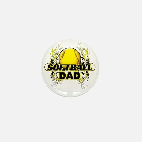 Softball Dads (cross) Mini Button