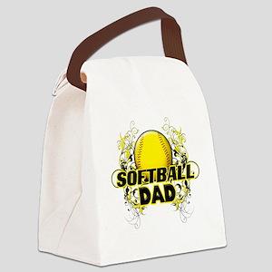 Softball Dads (cross) Canvas Lunch Bag