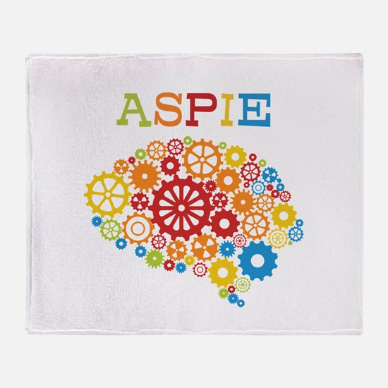 Aspie Brain Autism Throw Blanket