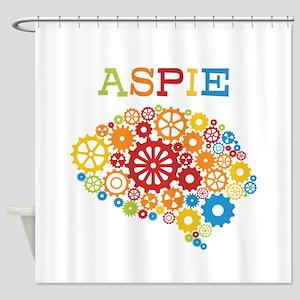 Aspie Brain Autism Shower Curtain