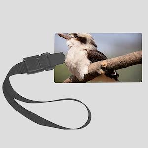 Laughing kookaburra Large Luggage Tag