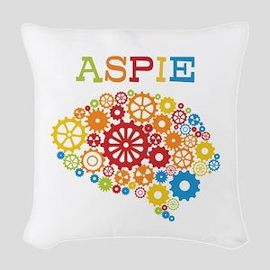 Aspie Brain Autism Woven Throw Pillow
