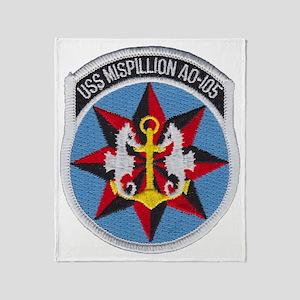 uss mispillion patch transparent Throw Blanket