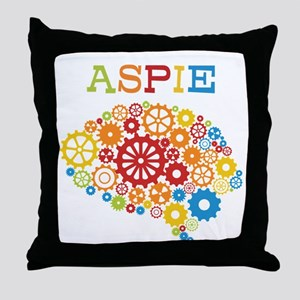 Aspie Brain Autism Throw Pillow