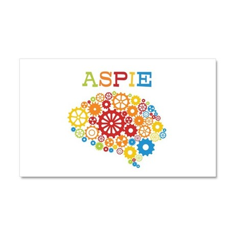 Aspie Brain Autism Car Magnet 20 x 12