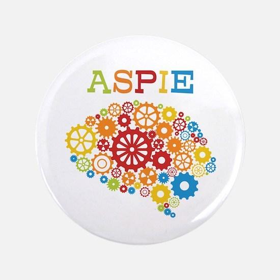 "Aspie Brain Autism 3.5"" Button (100 pack)"