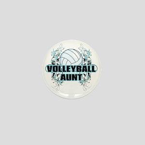 Volleyball Aunt (cross) Mini Button