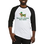 Kiss Me Weiner dog Baseball Jersey