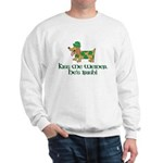 Kiss Me Weiner dog Sweatshirt