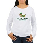 Kiss Me Weiner dog Women's Long Sleeve T-Shirt