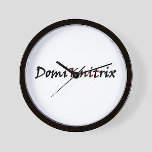 """Domi""""KNIT""""rix Wall Clock"""