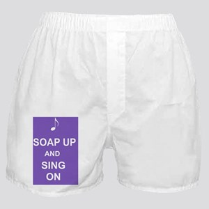 Soap up and sing on shower curtain Boxer Shorts