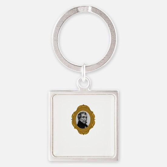 William Henry Harrison Square Keychain