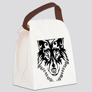 Tribal Wolf 2 Canvas Lunch Bag