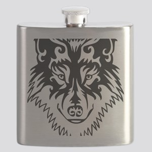 Tribal Wolf 2 Flask