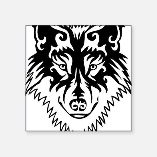 "Tribal Wolf 2 Square Sticker 3"" x 3"""