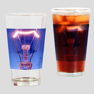 Light bulb filament Drinking Glass