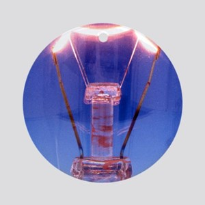 Light bulb filament Round Ornament