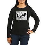 Big Black Horse Women's Long Sleeve Dark T-Shirt