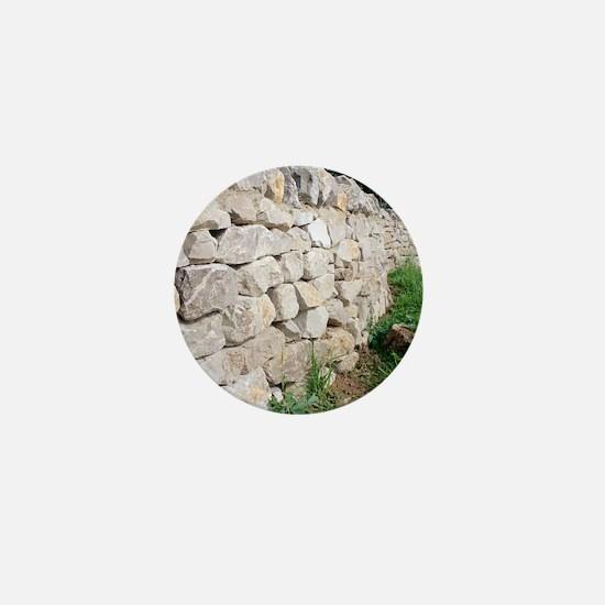 Limestone wall Mini Button