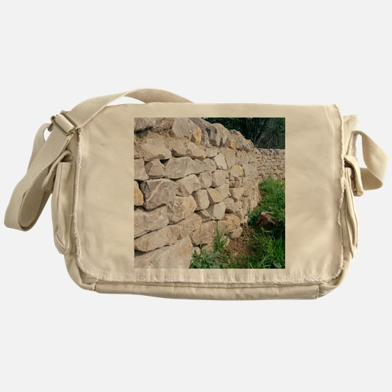 Limestone wall Messenger Bag