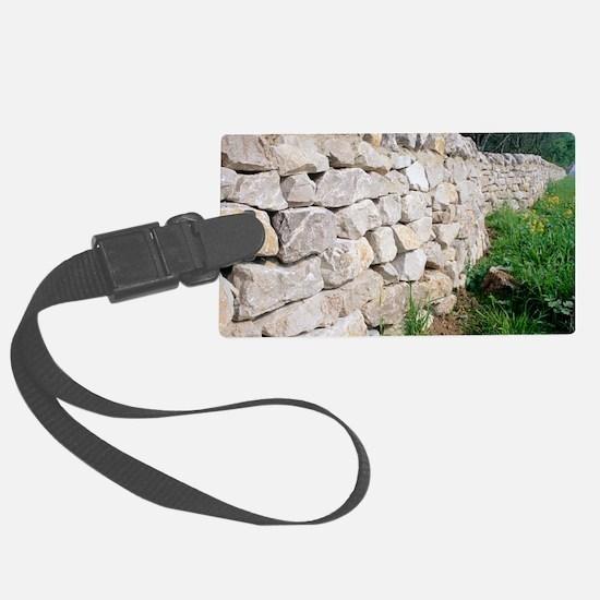 Limestone wall Luggage Tag