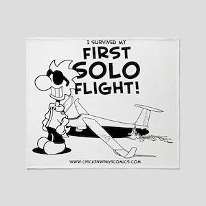 First Solo Flight (Glider) Throw Blanket