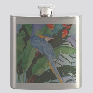 Blue and Gold Macaw Preening Flask