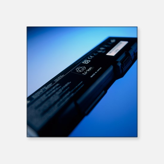 """Lithium-ion battery Square Sticker 3"""" x 3"""""""