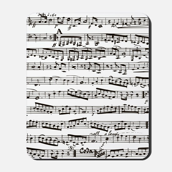Vintage music Mousepad