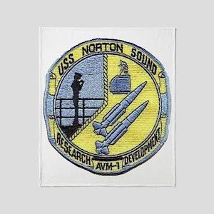 uss norton sound patch transparent Throw Blanket