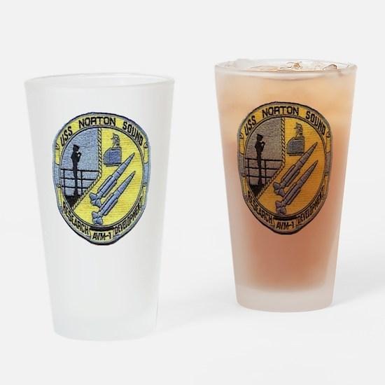 uss norton sound patch transparent Drinking Glass